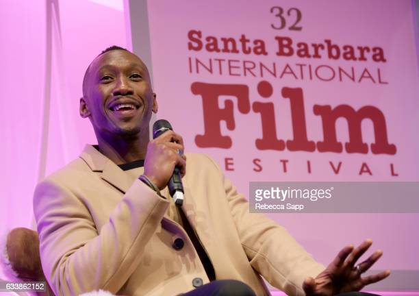Actor Mahershala Ali speaks onstage during the Virtuosos Award presented by UGG during the 32nd Santa Barbara International Film Festival at the...