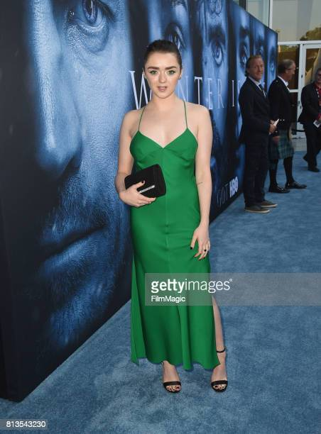 Actor Maisie Williams at the Los Angeles Premiere for the seventh season of HBO's 'Game Of Thrones' at Walt Disney Concert Hall on July 12 2017 in...