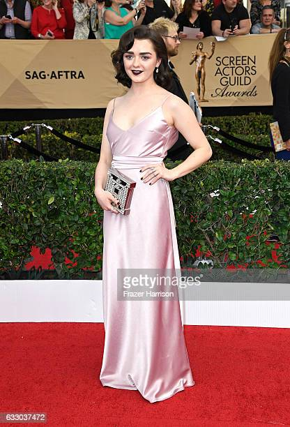 Actor Maisie Williams attends The 23rd Annual Screen Actors Guild Awards at The Shrine Auditorium on January 29 2017 in Los Angeles California...
