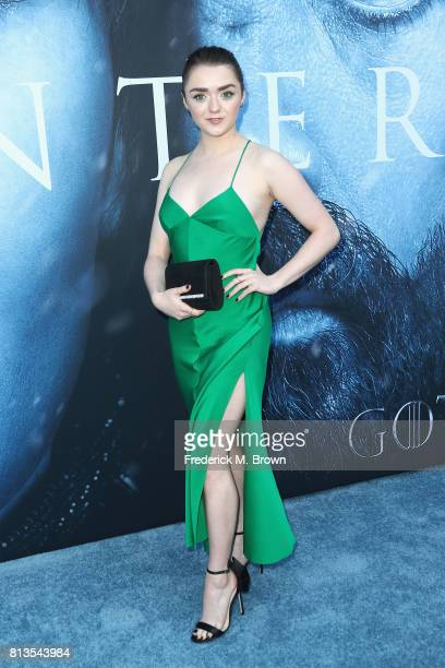 Actor Maisie Williams attends the premiere of HBO's 'Game Of Thrones' season 7 at Walt Disney Concert Hall on July 12 2017 in Los Angeles California