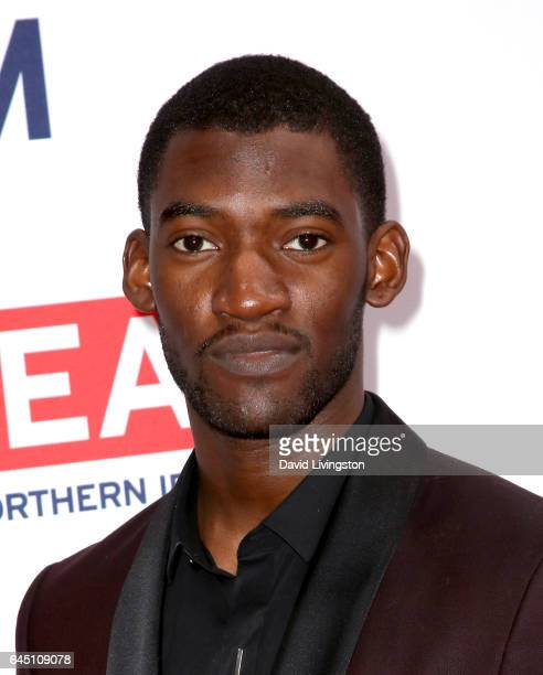 Actor Malachi Kirby arrives at The GREAT Film Reception to Honor the British Nominees of The 89th Annual Academy Awards at Fig Olive on February 24...