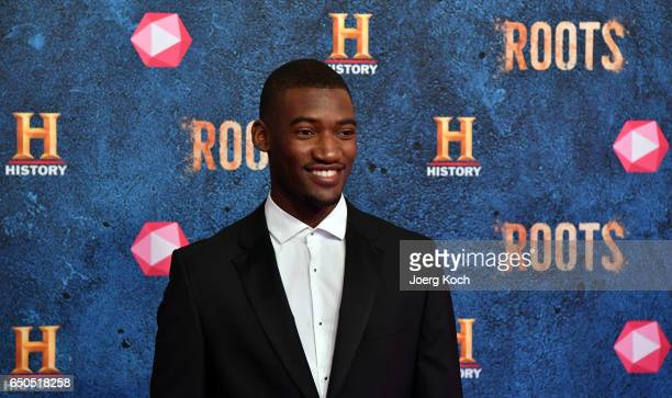 Actor Malachi Kirby attends the HISTORY and Telekom preview screening of the new drama series 'Roots' on March 9 2017 in Munich Germany at Gloria...
