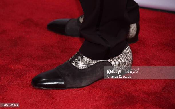 Actor Malachi Kirby shoe detail arrives at The GREAT Film Reception to honor the British Nominees of The 89th Annual Academy Awards at Fig Olive on...