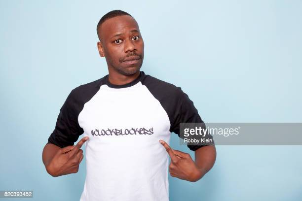 Actor Malcolm Barrett of NBC's 'Timeless' poses for a portrait during ComicCon 2017 at Hard Rock Hotel San Diego on July 20 2017 in San Diego...