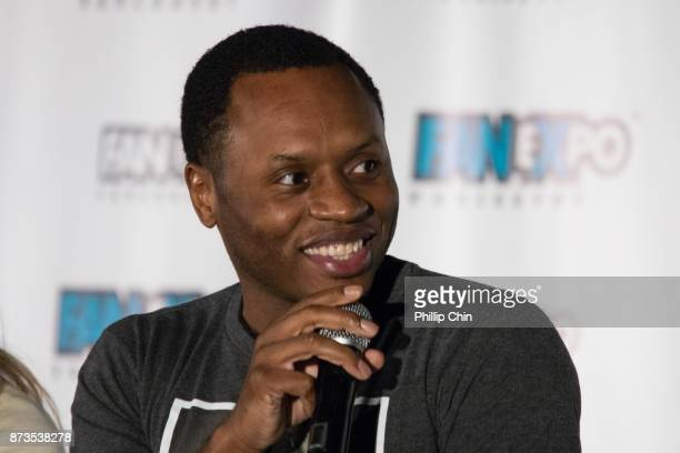 Actor Malcolm Goodwin attends the 'iZombie' QA for Fan Expo Vancouver in the Vancouver Convention Centre on November 12 2017 in Vancouver Canada