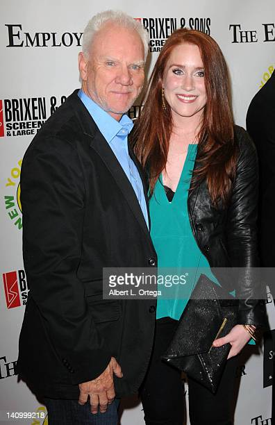 Actor Malcolm McDowell and actress Paige Howard arrive for 'The Employer' Los Angeles Screening held at Regent Showcase Theatre on March 6 2012 in...