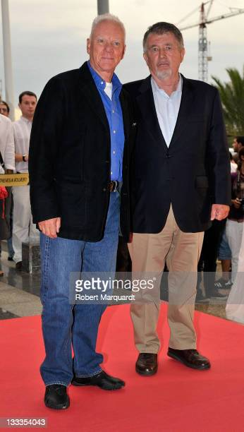 Actor Malcolm McDowell and producer/director Walter Hill arrive for their respective awards at the 42nd Sitges Film Festival on October 1 2009 in...