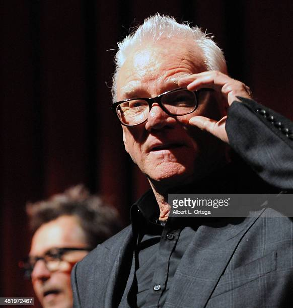Actor Malcolm McDowell attends The Malcom McDowell Series Of QA Screenings Presents 'A Clockwork Orange' held at The Alex Theatre on April 1 2014 in...