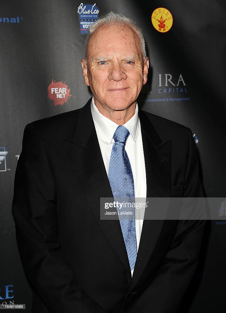 Actor <a gi-track='captionPersonalityLinkClicked' href=/galleries/search?phrase=Malcolm+McDowell+-+Actor&family=editorial&specificpeople=221446 ng-click='$event.stopPropagation()'>Malcolm McDowell</a> attends the sCare Foundation's 2nd annual Halloween benefit event at The Conga Room at L.A. Live on October 28, 2012 in Los Angeles, California.