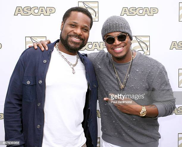 Actor MalcolmJamal Warner and recording artist NeYo attend The ASCAP 2015 GRAMMY Nominees Brunch at SLS Hotel on February 7 2015 in Los Angeles...
