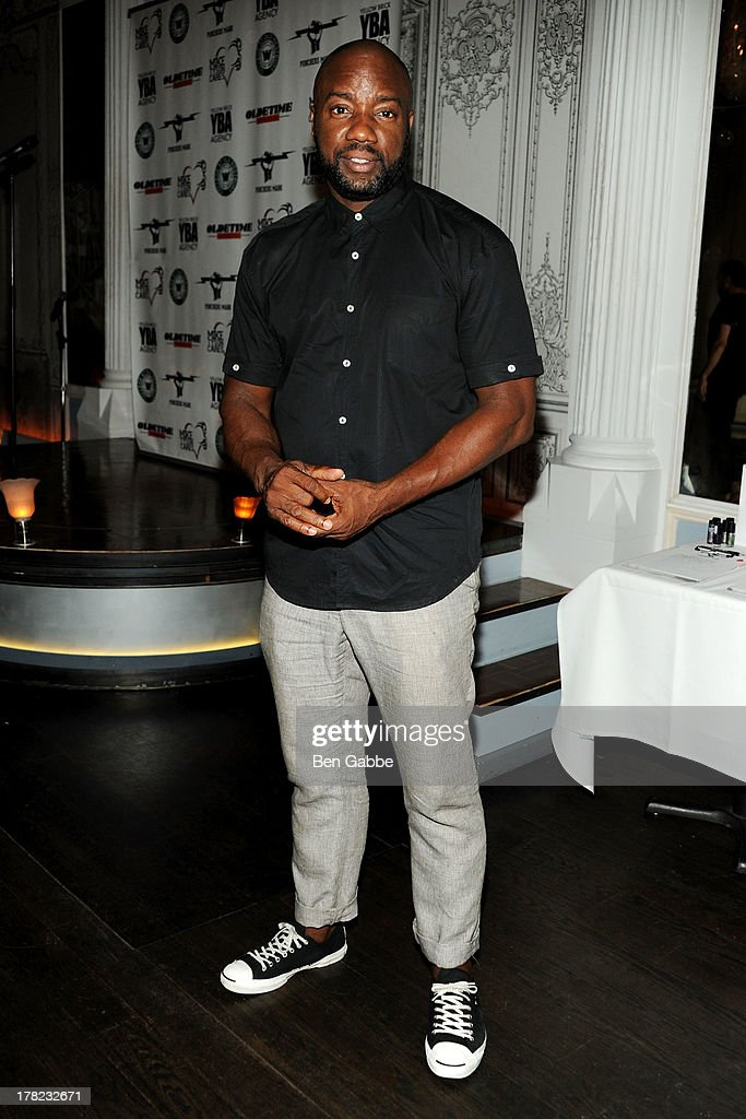 Actor <a gi-track='captionPersonalityLinkClicked' href=/galleries/search?phrase=Malik+Yoba&family=editorial&specificpeople=714316 ng-click='$event.stopPropagation()'>Malik Yoba</a> attends the 'Puncher's Mark' Indiegogo Fundraiser Kick Off at Duane Park on August 27, 2013 in New York City.