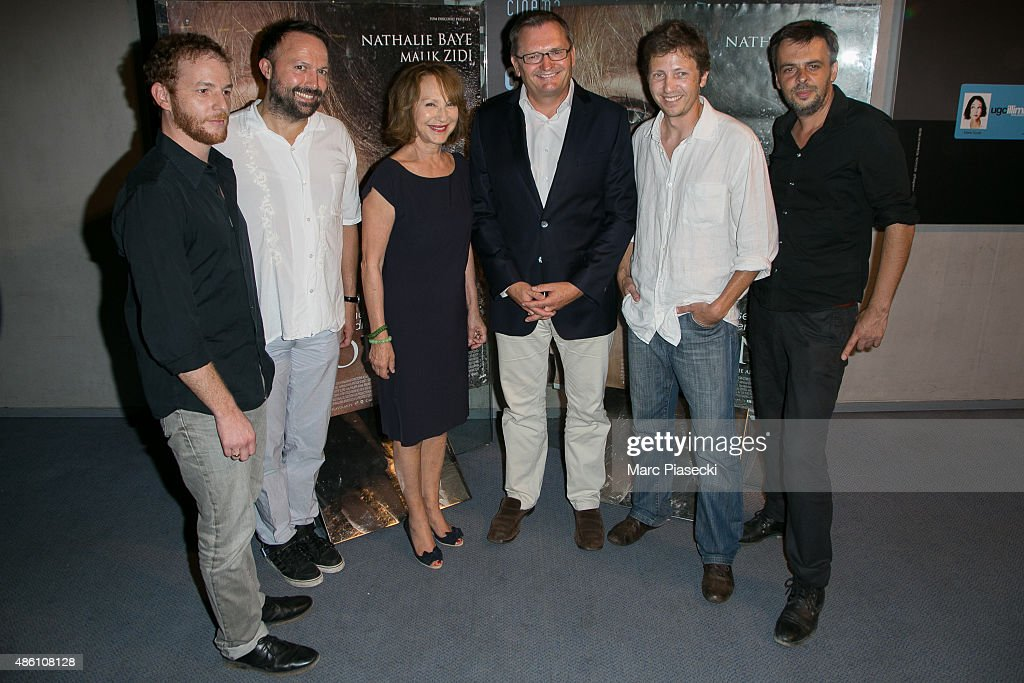 Actor Malik Zidi guest actress Nathalie Baye guest directors Nicolas Bonilauri and Christophe Ali attend the 'La Volante' Premiere at Ugc Cine Cite...