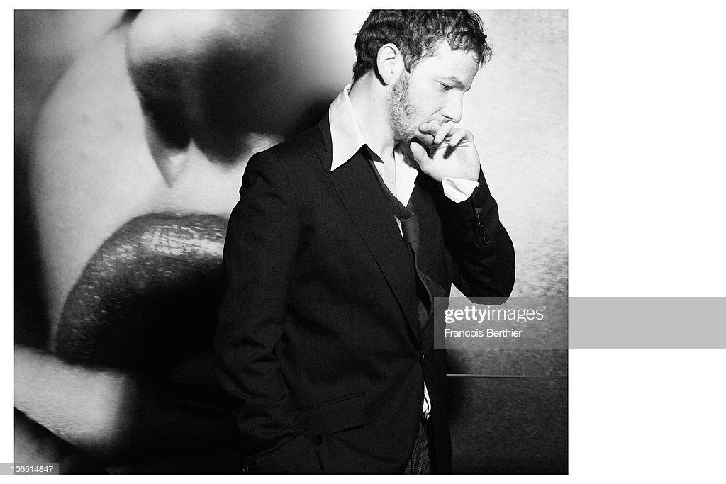 Actor Malik Zidi poses at a portrait session in Paris. 2010.