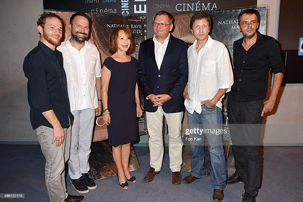 31 31 31 Actor Malik Zidi producer Tom Dercourt from De Facto Prod Nathalie Baye a guest directors Nicolas Bonilauri and Christophe Ali attend 'La...