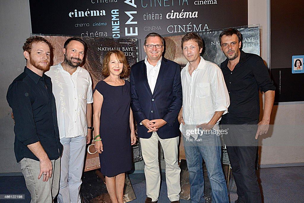 31 31 31 31 Actor Malik Zidi producer Tom Dercourt from De Facto Prod Nathalie Baye a guest directors Nicolas Bonilauri and Christophe Ali attend 'La...