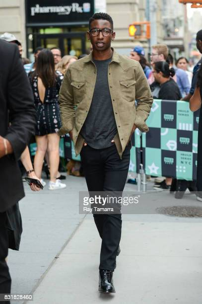 Actor Mamoudou Athie leaves the 'AOL Build' taping at the AOL Studios on August 15 2017 in New York City