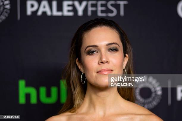 Actor Mandy Moore attends PaleyFest LA at the Dolby Theatre on March 18 2017 in the Hollywood section of Los Angeles California / AFP PHOTO / DAVID...