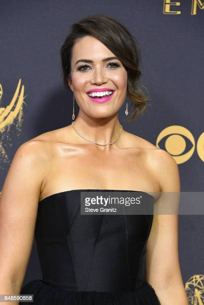 Actor Mandy Moore attends the 69th Annual Primetime Emmy Awards at Microsoft Theater on September 17 2017 in Los Angeles California