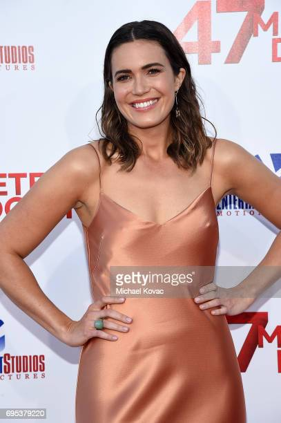 Actor Mandy Moore attends the Premiere Of Dimension Films' '47 Meters Down' at Regency Village Theatre on June 12 2017 in Westwood California