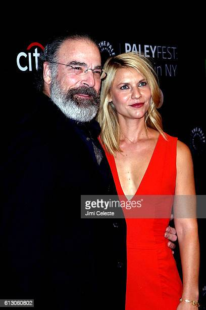 Actor Mandy Patinkin and Actress Clare Danes attends PaleyFest New York 2016 'Homeland' at The Paley Center for Media on October 6 2016 in New York...