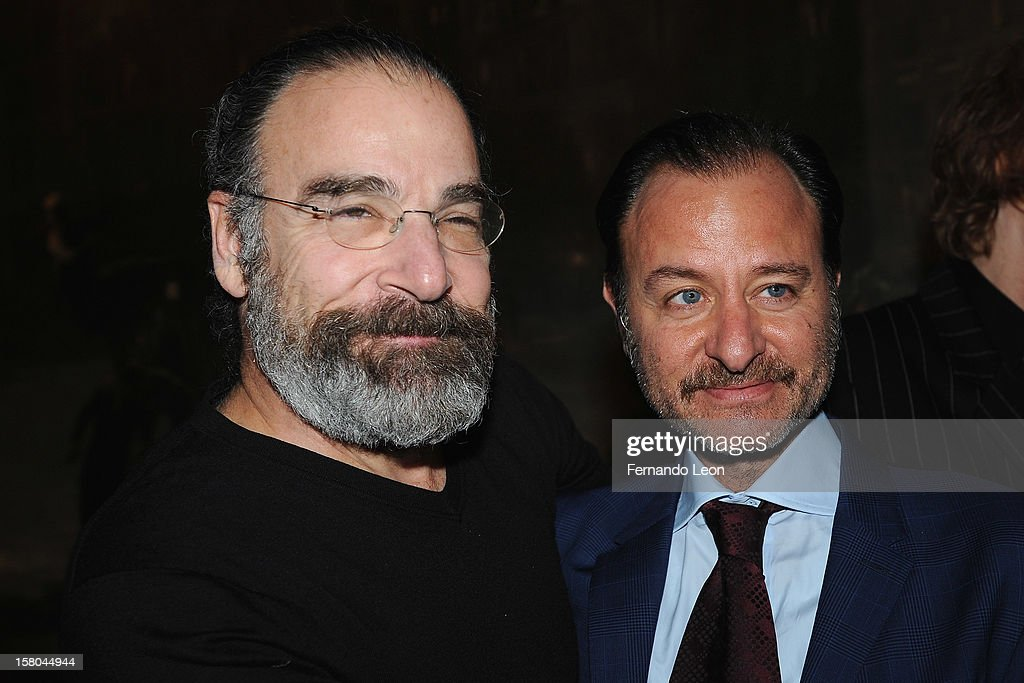 Actor <a gi-track='captionPersonalityLinkClicked' href=/galleries/search?phrase=Mandy+Patinkin&family=editorial&specificpeople=233720 ng-click='$event.stopPropagation()'>Mandy Patinkin</a> and director <a gi-track='captionPersonalityLinkClicked' href=/galleries/search?phrase=Fisher+Stevens&family=editorial&specificpeople=206958 ng-click='$event.stopPropagation()'>Fisher Stevens</a> (R) attend The Cinema Society With Chrysler & Bally Host The Premiere Of 'Stand Up Guys' After Party at The Plaza Hotel on December 9, 2012 in New York City.