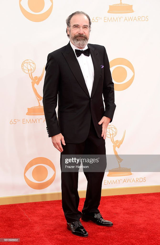 Actor Mandy Patinkin arrives at the 65th Annual Primetime Emmy Awards held at Nokia Theatre LA Live on September 22 2013 in Los Angeles California