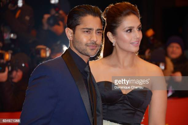 Actor Manish Dayal and actress Huma Qureshi attend the 'Viceroy's House' premiere during the 67th Berlinale International Film Festival Berlin at...