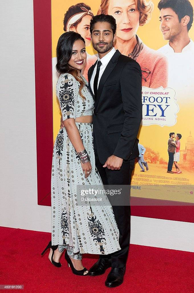 Actor <a gi-track='captionPersonalityLinkClicked' href=/galleries/search?phrase=Manish+Dayal&family=editorial&specificpeople=5593303 ng-click='$event.stopPropagation()'>Manish Dayal</a> (R) and guest attend 'The Hundred-Foot Journey' New York premiere at the Ziegfeld Theater on August 4, 2014 in New York City.