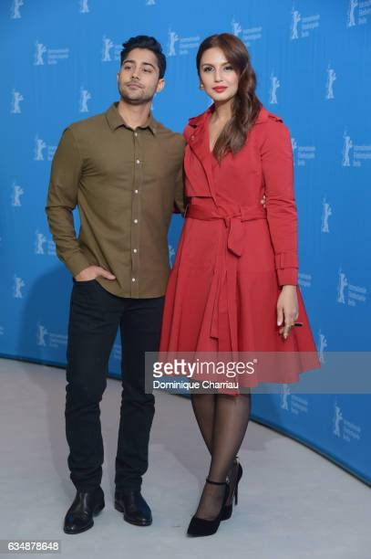 Actor Manish Dayal and Huma Qureshi attend the 'Viceroy's House' photo call during the 67th Berlinale International Film Festival Berlin at Grand...