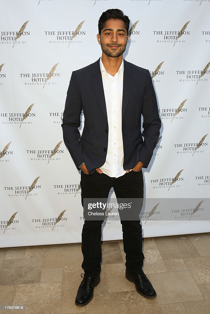 Actor Manish Dayal attends The Jefferson Hotel D.C. vintage wine tasting summer soiree at Hotel Bel-Air on July 30, 2013 in Los Angeles, California.