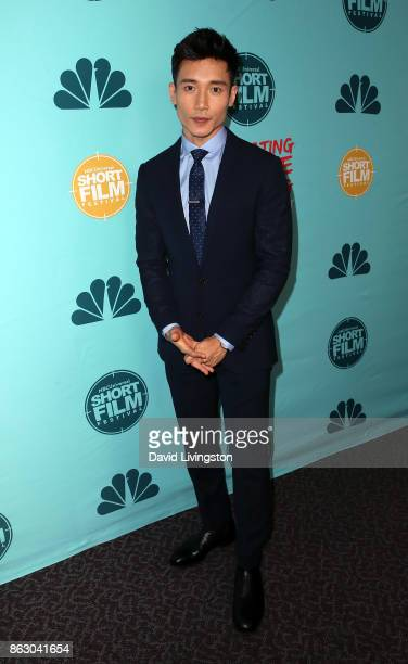 Actor Manny Jacinto attends the 12th Annual NBCUniversal Short Film Festival finale screening at the Directors Guild of America on October 18 2017 in...
