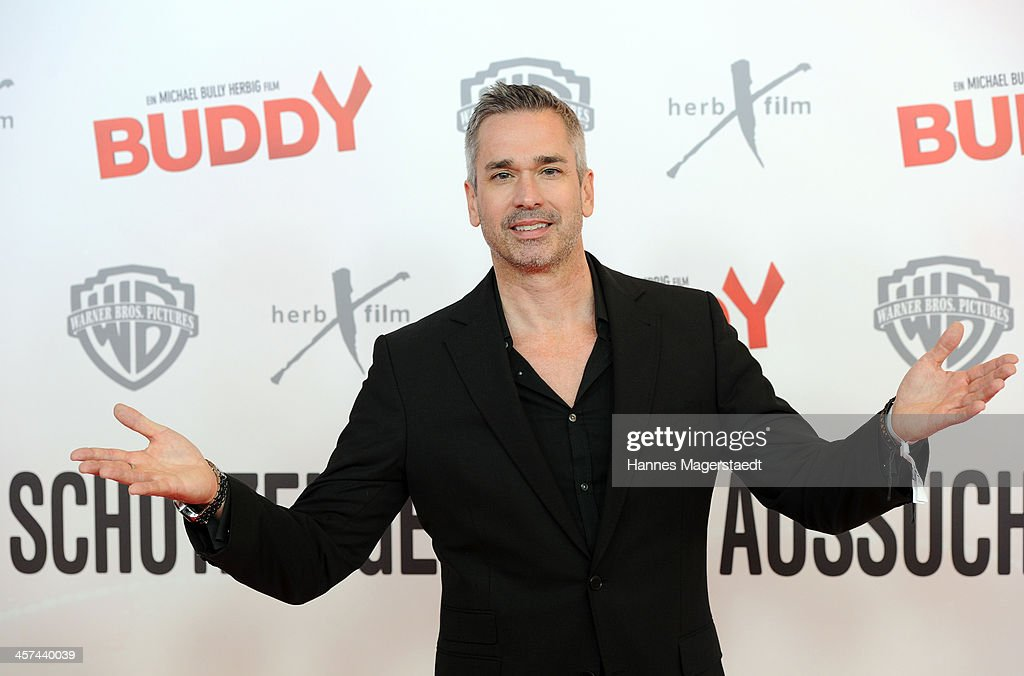 Actor Manou Lubowski attends 'Buddy' Premiere at Mathaeser Filmpalast on December 17, 2013 in Munich, Germany.