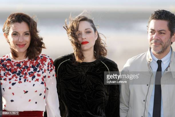 Actor Manu Payet and actresses Aure Atika and Marion Cotillard attend jury photocall during the 2nd day of 31st Cabourg Film Festival on June 15 2017...