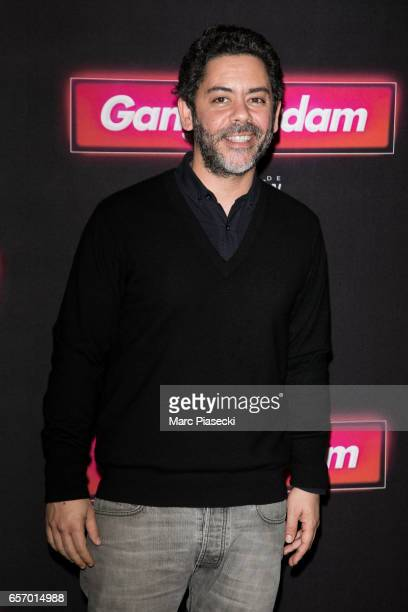 Actor Manu Payet attends the 'Gangsterdam' Premiere at Le Grand Rex on March 23 2017 in Paris France