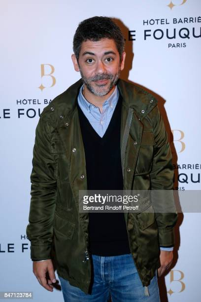 Actor Manu Payet attends the Reopening of the Barriere Hotel 'The Fouquet's' decorated by Jacques Garcia at Hotel Barriere Le Fouquet's Paris on...