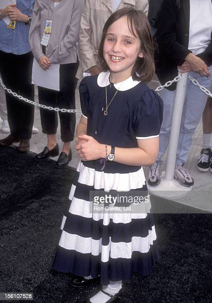 Actor Mara Wilson attends the 10th Annual Nickelodeon's Kids' Choice Awards on April 19 1997 at Olympic Auditorium in Los Angeles California