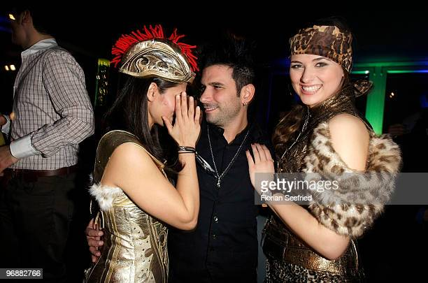 Actor Marc Eric Terenzi and hostessen attend the 'Tele 5 Director's Cut`during the 60th Berlin Film Festival at Puro Lounge on February 19 2010 in...