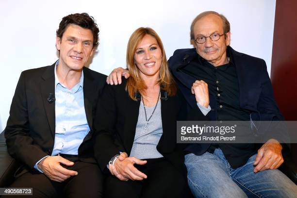 Actor Marc lavoine and main Guest of the show Mathilde Seigner and actor Patrick Chesnais present the movie 'La liste de mes envies' at the 'Vivement...