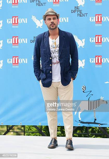 Actor Marco D'Amore attends Giffoni Film Festival photocall on July 19 2014 in Giffoni Valle Piana Italy