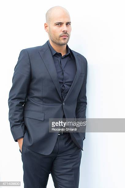 Actor Marco D'Amore is photographed for Self Assignment on October 19 2014 in Rome Italy