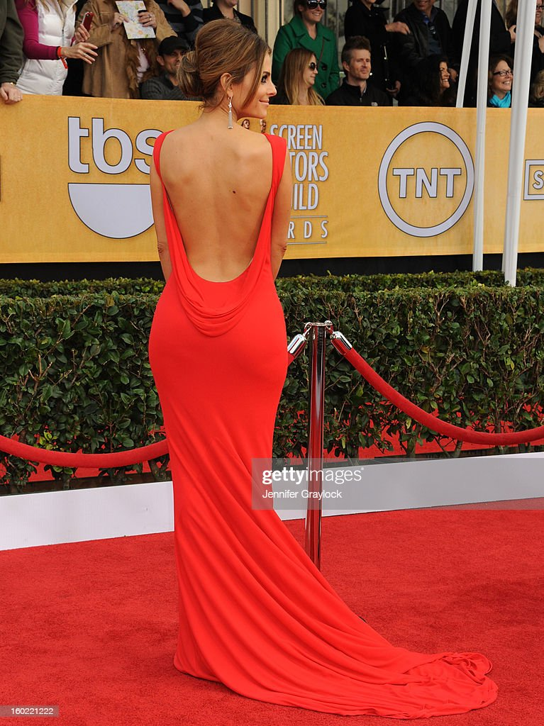 Actor Maria Menounos arrives at the 19th Annual Screen Actors Guild Awards held at The Shrine Auditorium on January 27 2013 in Los Angeles California