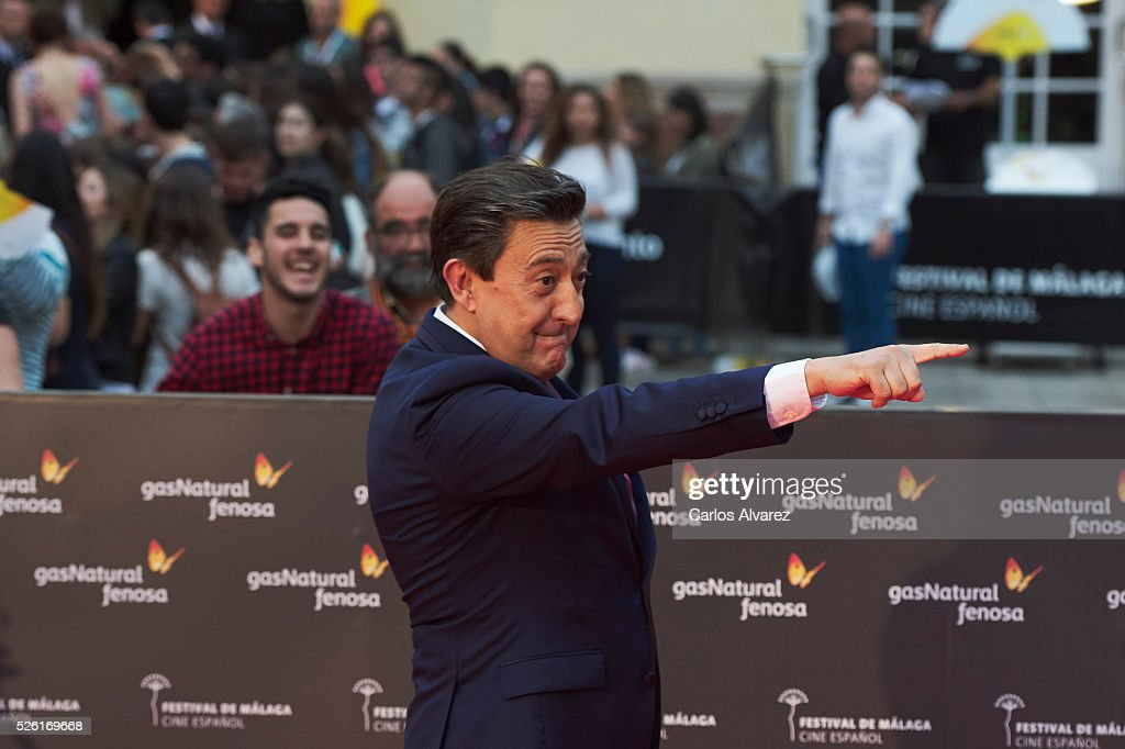 Actor Mariano Pena attends 'Koblic' premiere at the Cervantes Teather during the 19th Malaga Film Festival on April 29, 2016 in Malaga, Spain.