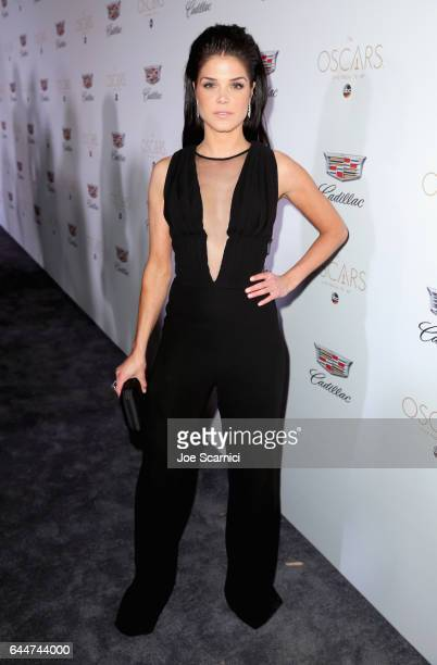 Actor Marie Avgeropoulos attends the Cadillac Oscar Week Celebration at Chateau Marmont on February 23 2017 in Los Angeles California