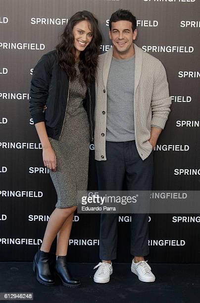 Actor Mario Casas and model Dalianah Arekion present Springfield Christmas Commercial at Club Allard on October 6 2016 in Madrid Spain