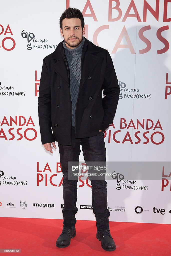 Actor <a gi-track='captionPersonalityLinkClicked' href=/galleries/search?phrase=Mario+Casas&family=editorial&specificpeople=4617963 ng-click='$event.stopPropagation()'>Mario Casas</a> attends 'La Banda Picasso' Premiere at Capitol Cinema on January 24, 2013 in Madrid, Spain.