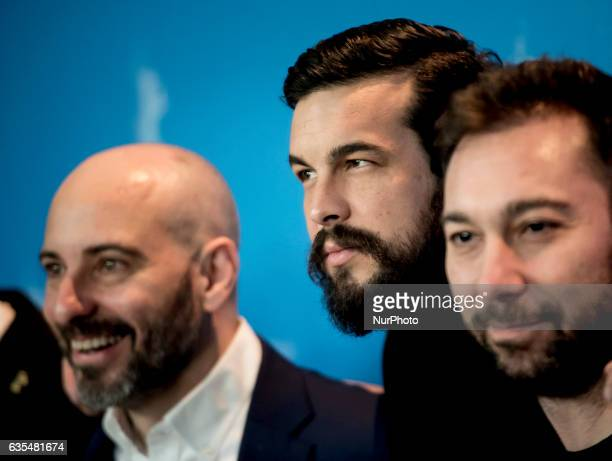 Actor Mario Casas attends the 'The Bar' press conference during the 67th Berlinale International Film Festival Berlin at Grand Hyatt Hotel on...