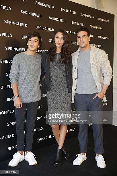 Actor Mario Casas his brother Oscar Casas and model Dalianah Arekion present Springfield Christmas Commercial at Club Allard on October 6 2016 in...