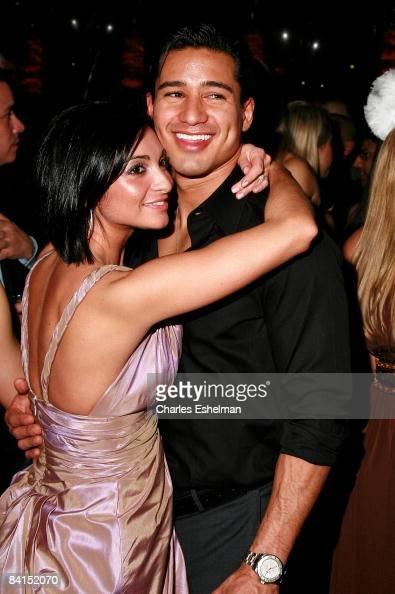 Actor Mario Lopez and Courtney Mazza attend Joonbug's New Years Eve party hosted by Mario Lopez at Marquee on December 31 2008 in New York City