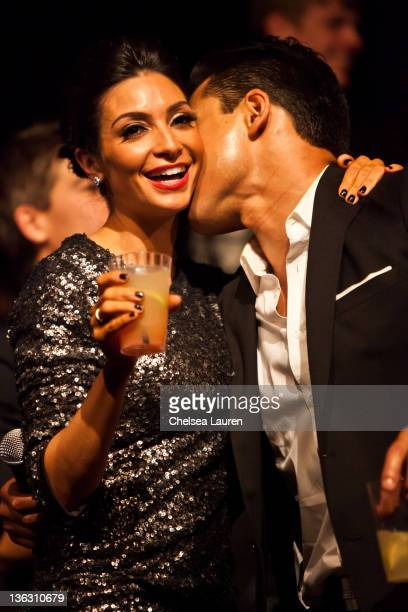 Actor Mario Lopez and girlfriend Courtney Mazza celebrate at Big Bang New Year's Eve 2012 party at Hollywood Highland Center on December 31 2011 in...