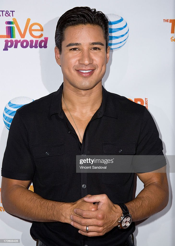 Actor Mario Lopez attends the Adam Lambert performance and check donation presentation to The Trevor Project for 'Live Proud' Campaign at Playhouse Hollywood on July 3, 2013 in Los Angeles, California.